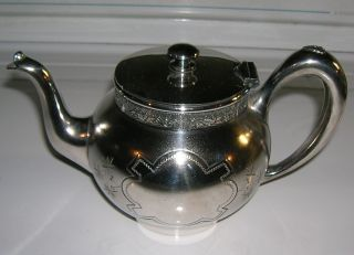 Victorian Wilcox Silverplated Teapot - Breakfast Or Individual Size Ca 1880 - 1890 ' S photo