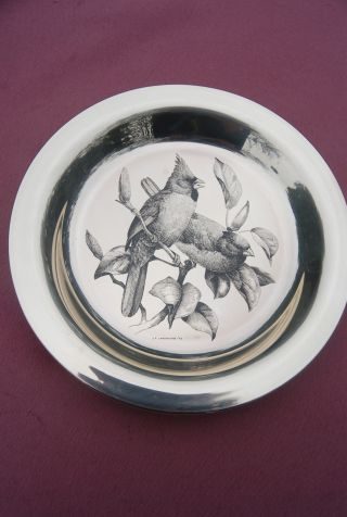 Sterling Collector Plates - National Audubon Society - Wood Duck And Cardinal photo