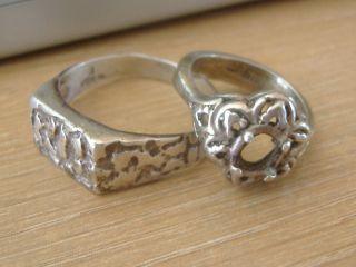 Sterling Silver Scrap,  2 Rings - 10.  2 Grams photo