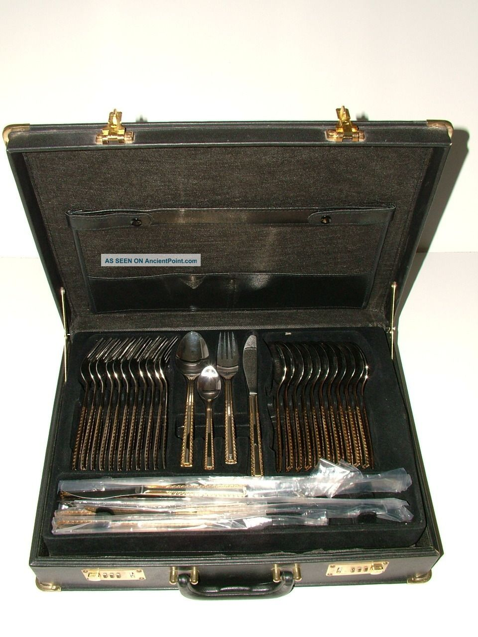 Silver And Gold Plate Set Of 67 Knives And Forks Canteen Of Cutlery Boxed Other photo