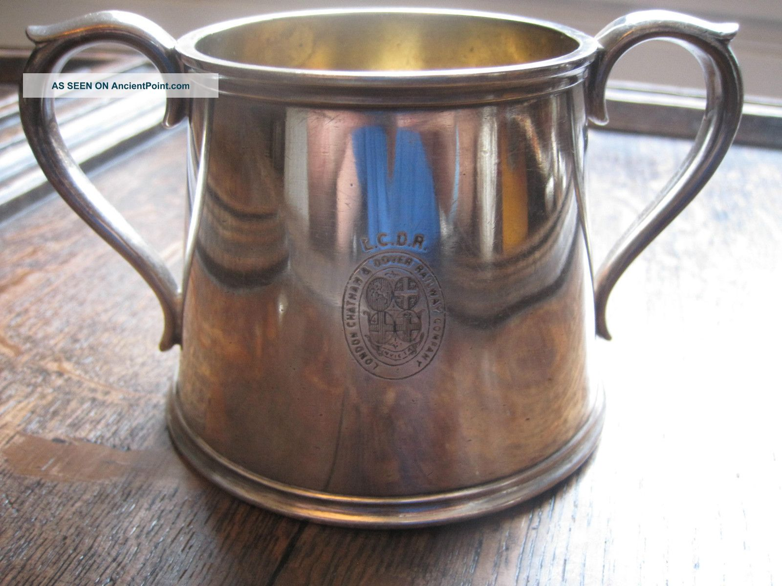 Lcdr Cup - London Chatham Dover Railway Company Elkington Silver Plate L.  C.  D.  R Cups & Goblets photo