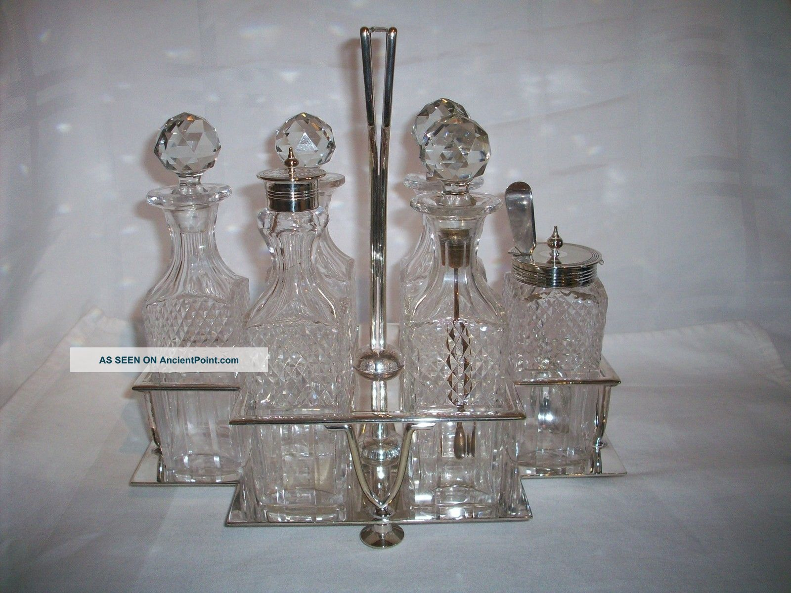 Hukin And Heath Six Bottle Art Deco Cruet Set Complete Circa 1930 Other photo