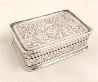 Antique Hallmarked Sterling Silver Snuff/pill Box 1820 - Thomas Bartleet photo