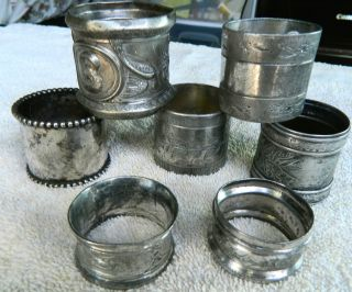 Vintage Silverplate Napkin Rings Late1880 ' S Early 1900 ' S photo