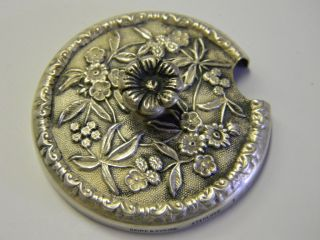 Antique S Kirk & Son Sterling Silver Lid Top Sugar Mustard Jam Condiment photo
