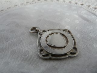 Vintage Solid Silver Shield Fob,  1930 photo