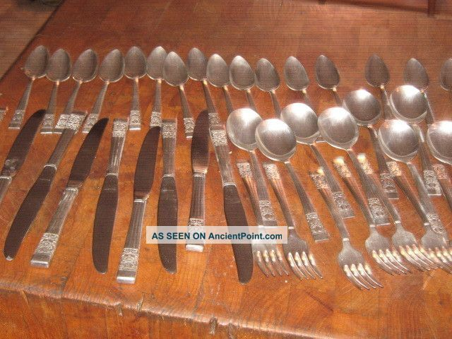 42 Pieces Oneida Community Silverplate 1936 Coronation Flatware Oneida/Wm. A. Rogers photo