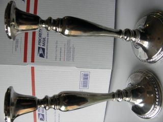 Revere (. 923) Silver Candle Sticks For Repair Or Scrap photo