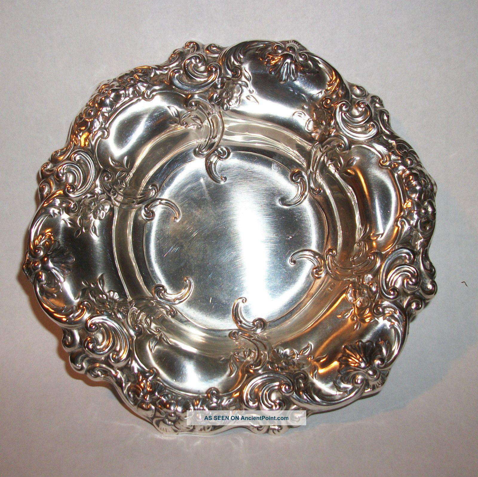 Vintage Gorham Sterling Silver Repousse Bon Bon Bowl 816 Bowls photo
