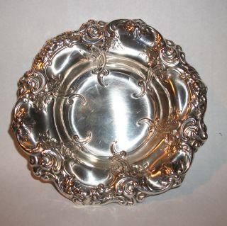 Vintage Gorham Sterling Silver Repousse Bon Bon Bowl 816 photo