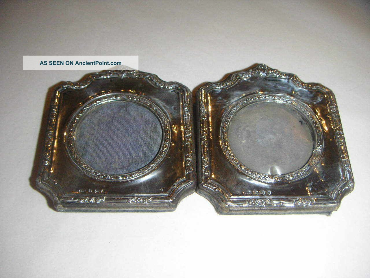 Pair Of Antique Silver Mounted Picture Frames 1908 Frames photo