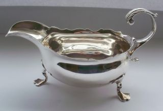 Scarce Georgian Silver Cream Boat 1761 photo