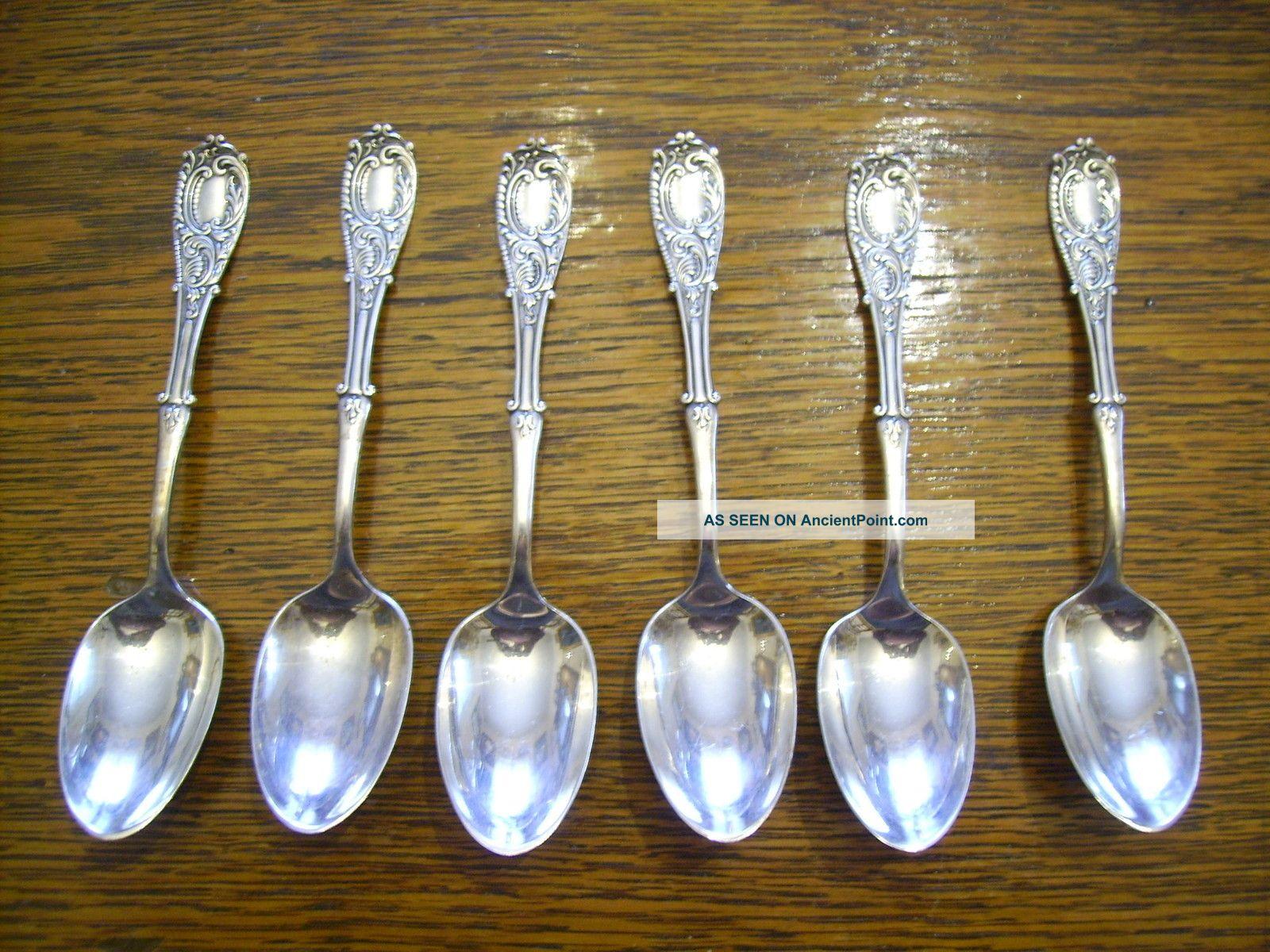 6 Rogers 1893 Moline Teaspoons Is Silverplate Victorian Era International/1847 Rogers photo