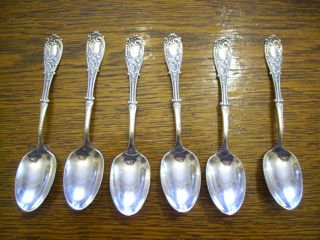 6 Rogers 1893 Moline Teaspoons Is Silverplate Victorian Era photo