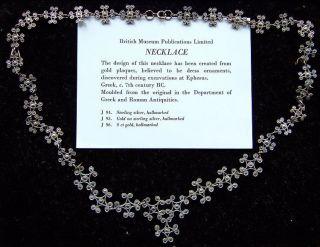Rare Antique Sterling Silver Museum Necklace - 7th Century Bc - Ephesus photo