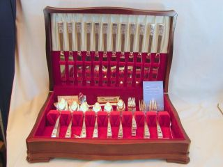 93pc Set Community Silver Coronation,  Service For 12 Plus Serving Pcs,  Excellent photo