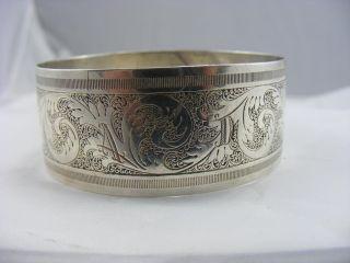 Antique Large Solid Silver Charles Horner Belt Buckle Bangle photo