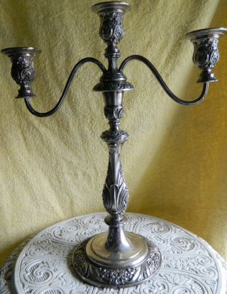 Vintage Candelabra. . .  Rodgers Heritage Silver Plate Is photo