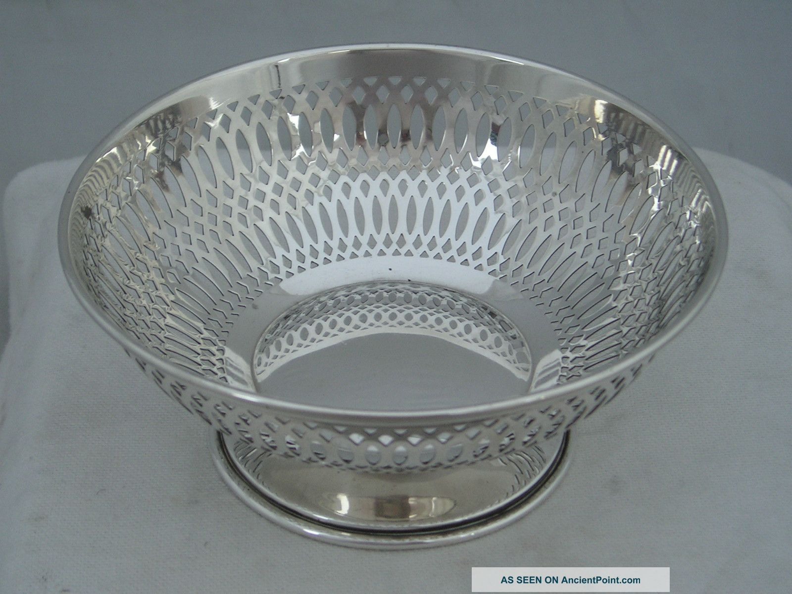 Lovely Art Nouveau 1911 William Neale Hallmarked Silver Pierced Bowl 82g Bowls photo