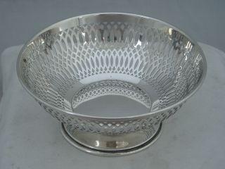 Lovely Art Nouveau 1911 William Neale Hallmarked Silver Pierced Bowl 82g photo