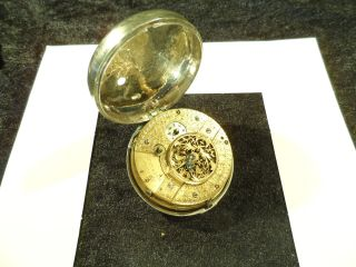 Verge Fusee Silver Pocket Watch By Rose & Son London. photo