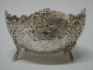 Rare German Solid Silver Open Salt Cellar Dish Simon Rosenau 1880 ' S photo