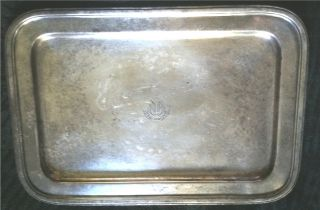 Old The Dorset Hotel,  Gorham Silver Soldered Silverplated Ep Tray,  1926,  Nr photo