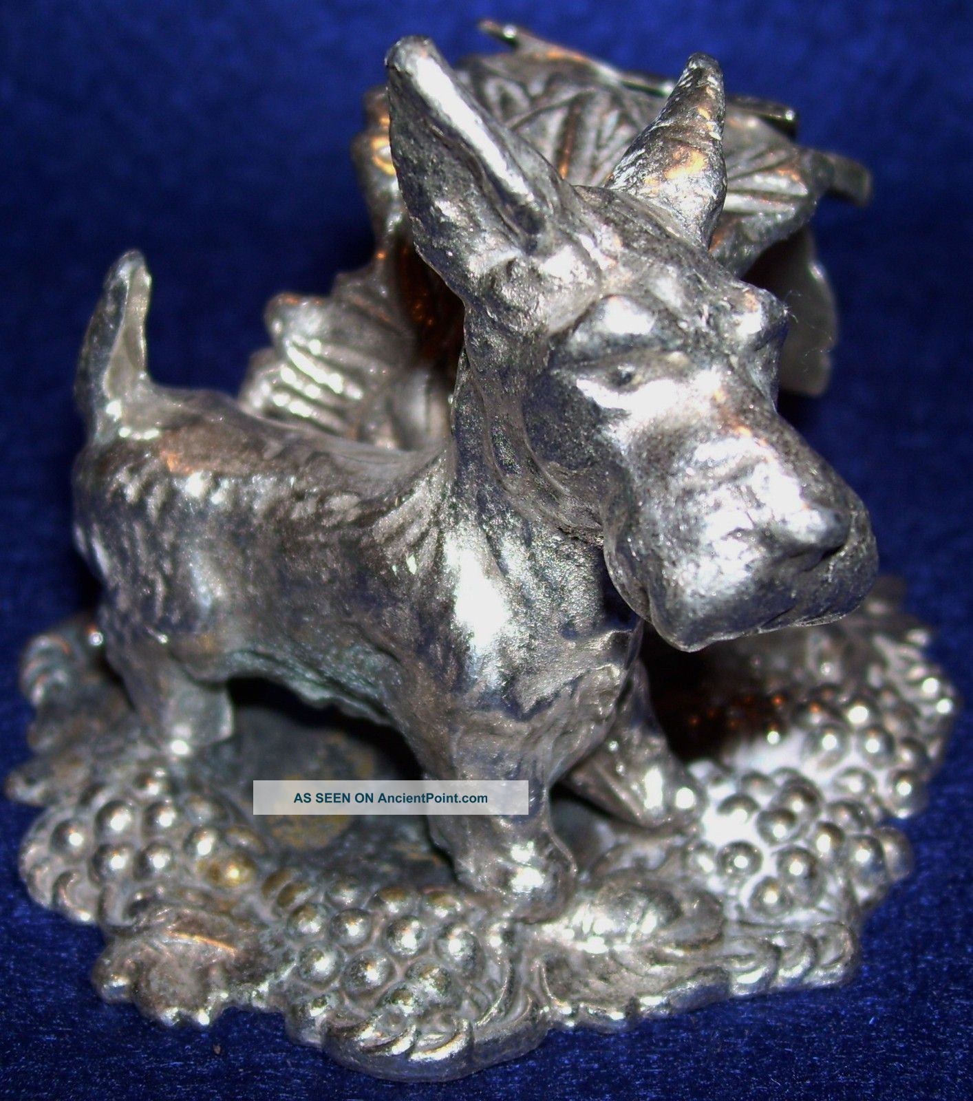 Silver Plated Figural Napkin Ring Adorable Scottie Other photo