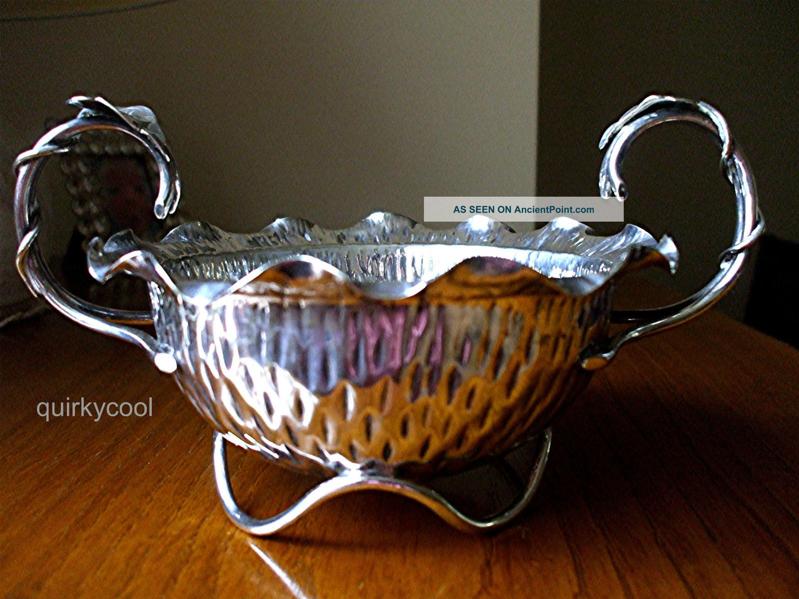 Hukin & Heath Silver Plated Footed Bowl - Aesthetic Arts & Crafts C.  1880s Bowls photo
