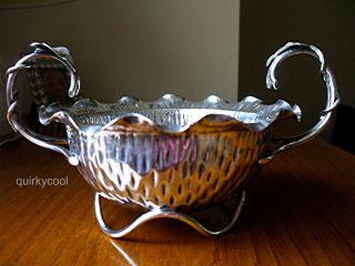 Hukin & Heath Silver Plated Footed Bowl - Aesthetic Arts & Crafts C.  1880s photo