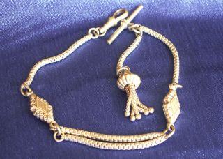 Antique Victorian Silver Albertina Ladies Pocket Watch Chain And Tassel 13.  1gms photo