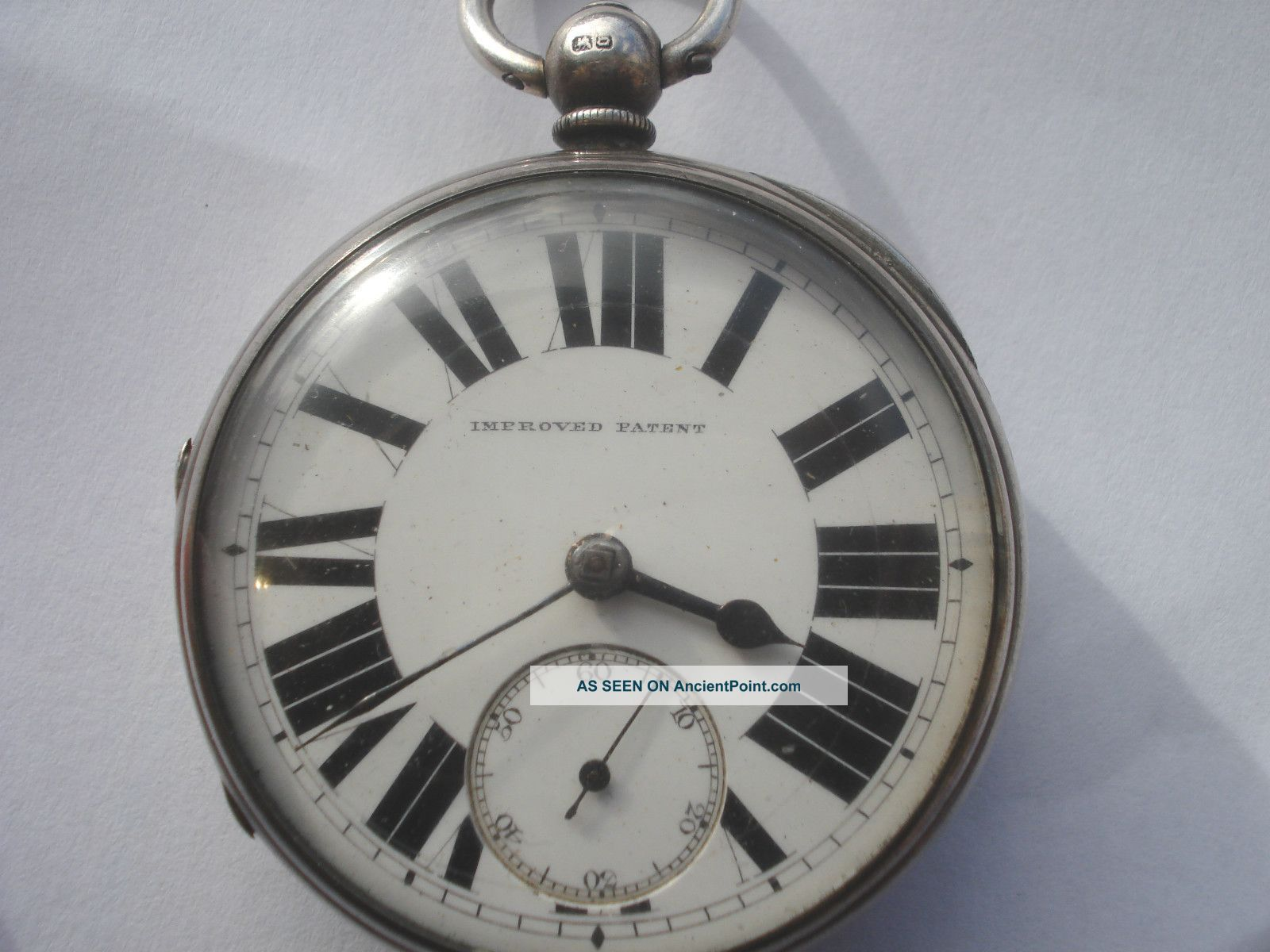 Antique Very Heavy Solid Silver Fusee Pocket Watch Chester 1888 Pocket Watches/ Chains/ Fobs photo