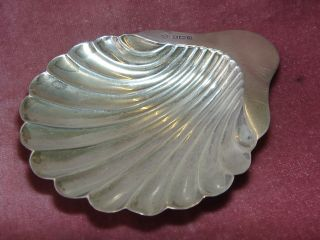 Solid Silver Shell Coaster - 1912 photo