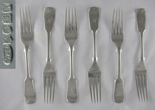 12 Quality Antique W Hutton Silver Ep Old English Fiddle Dessert Forks & Spoons photo