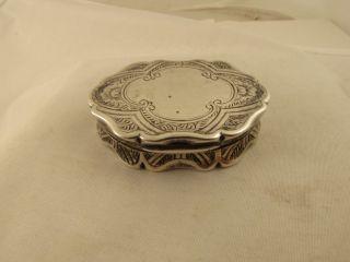 Victorian Sterling Silver Vinaigrette Box By George Unite 1867 Floral Design photo