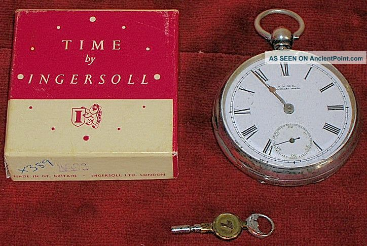 Waltham Silver Pocket Watch Sidewinder Imported 1900s Not Working Pocket Watches/ Chains/ Fobs photo
