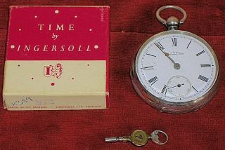 Waltham Silver Pocket Watch Sidewinder Imported 1900s Not Working photo