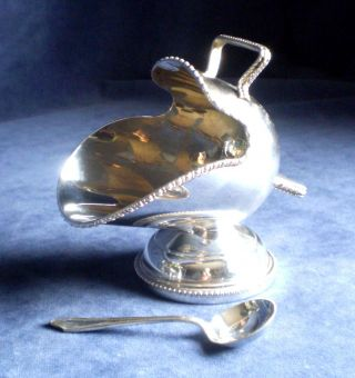 Victorian Style Sugar Bowl As Scuttle With Spoon photo