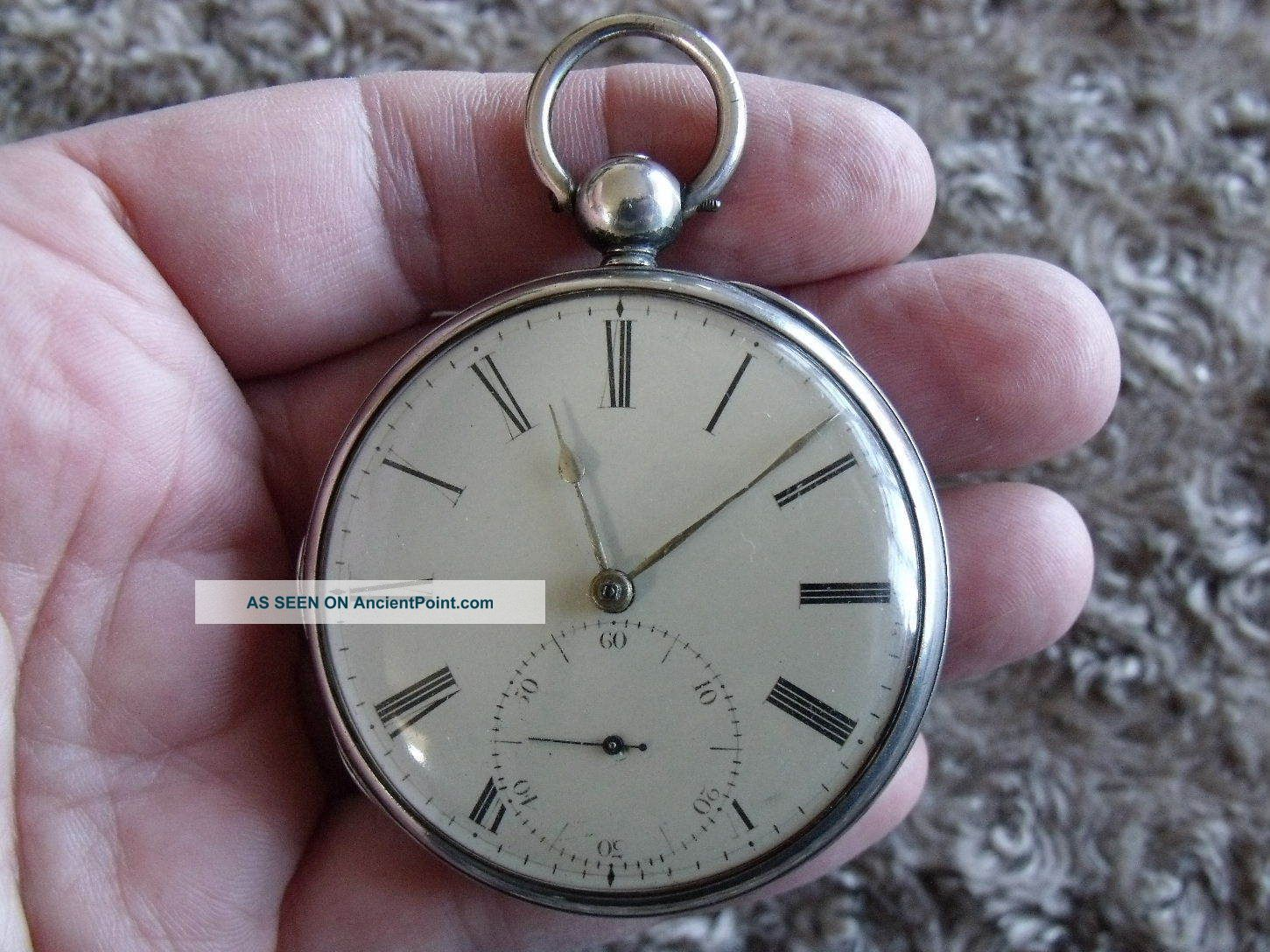 Silver Fusee Pocket Watch ' Frodsham,  Gracechurch St.  London,  No.  853 ' 1830 Pocket Watches/ Chains/ Fobs photo