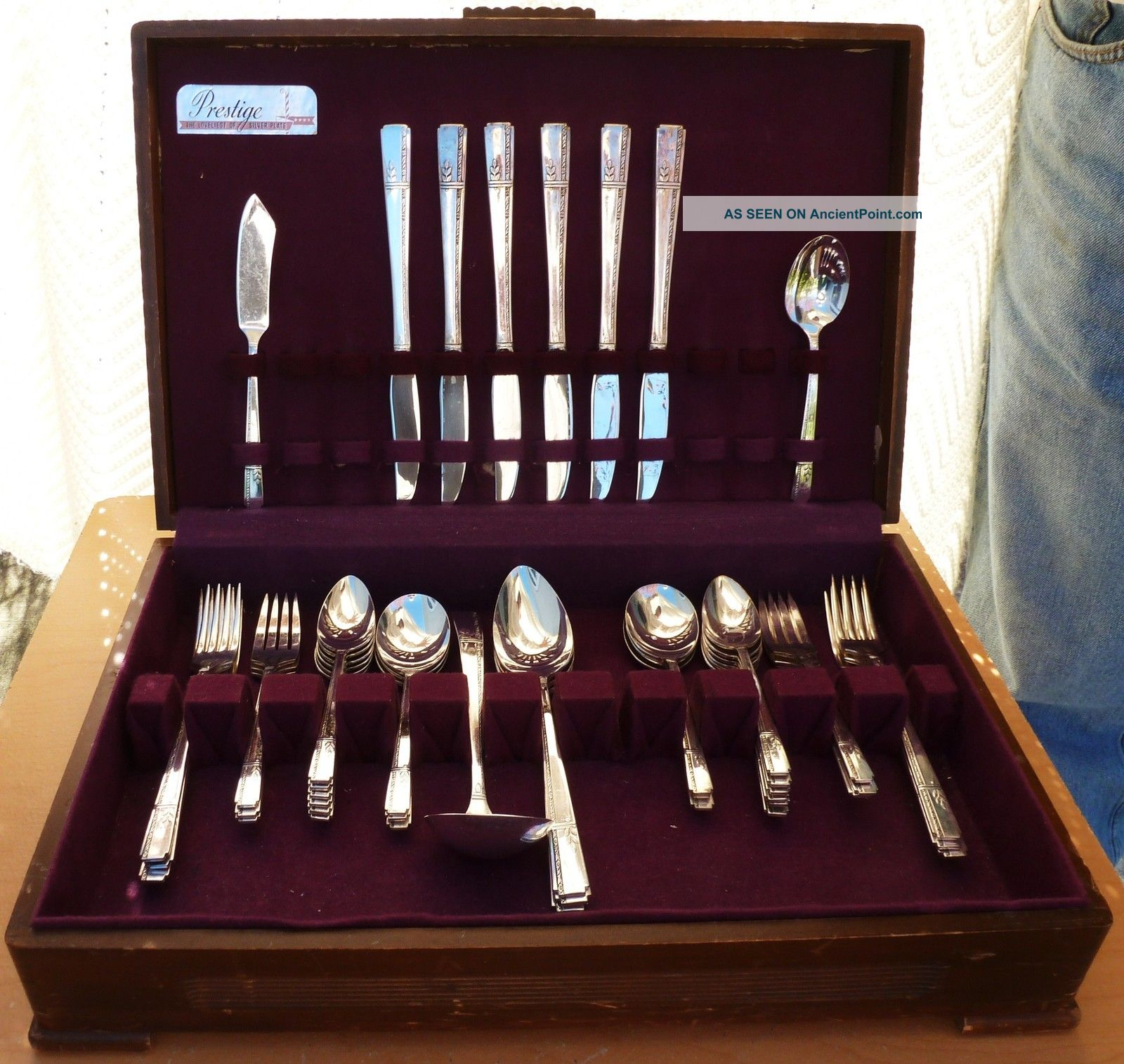 Oneida Prestige Silverplate Flatware Set,  Grenoble,  1938, Oneida/Wm. A. Rogers photo