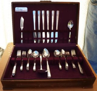Oneida Prestige Silverplate Flatware Set,  Grenoble,  1938, photo