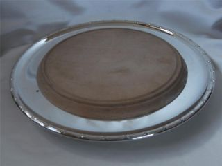 Vintage Silver Plated Cheese Board / Serving Plate By George Bowen photo