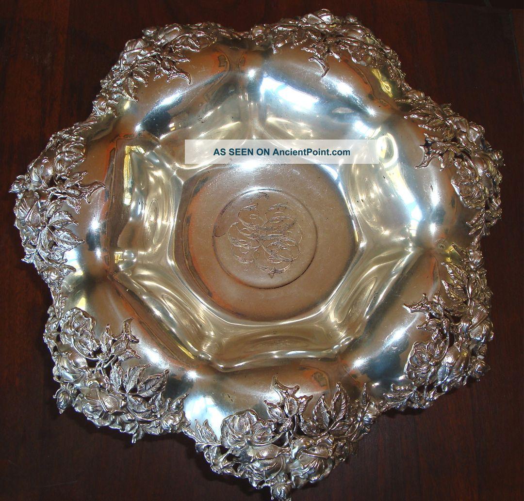 Fabulous Gargantuan Pierced Sterling Silver Bowl Bowls photo
