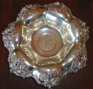Fabulous Gargantuan Pierced Sterling Silver Bowl photo
