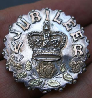 Solid Sterling Silver Queen Victoria Jubilee Brooch Birmingham 1896 See Photos photo