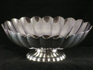 Reed & Barton Silver Pedestal Bowl 1945 Holiday Oval Bowl Centerpiece 60 12