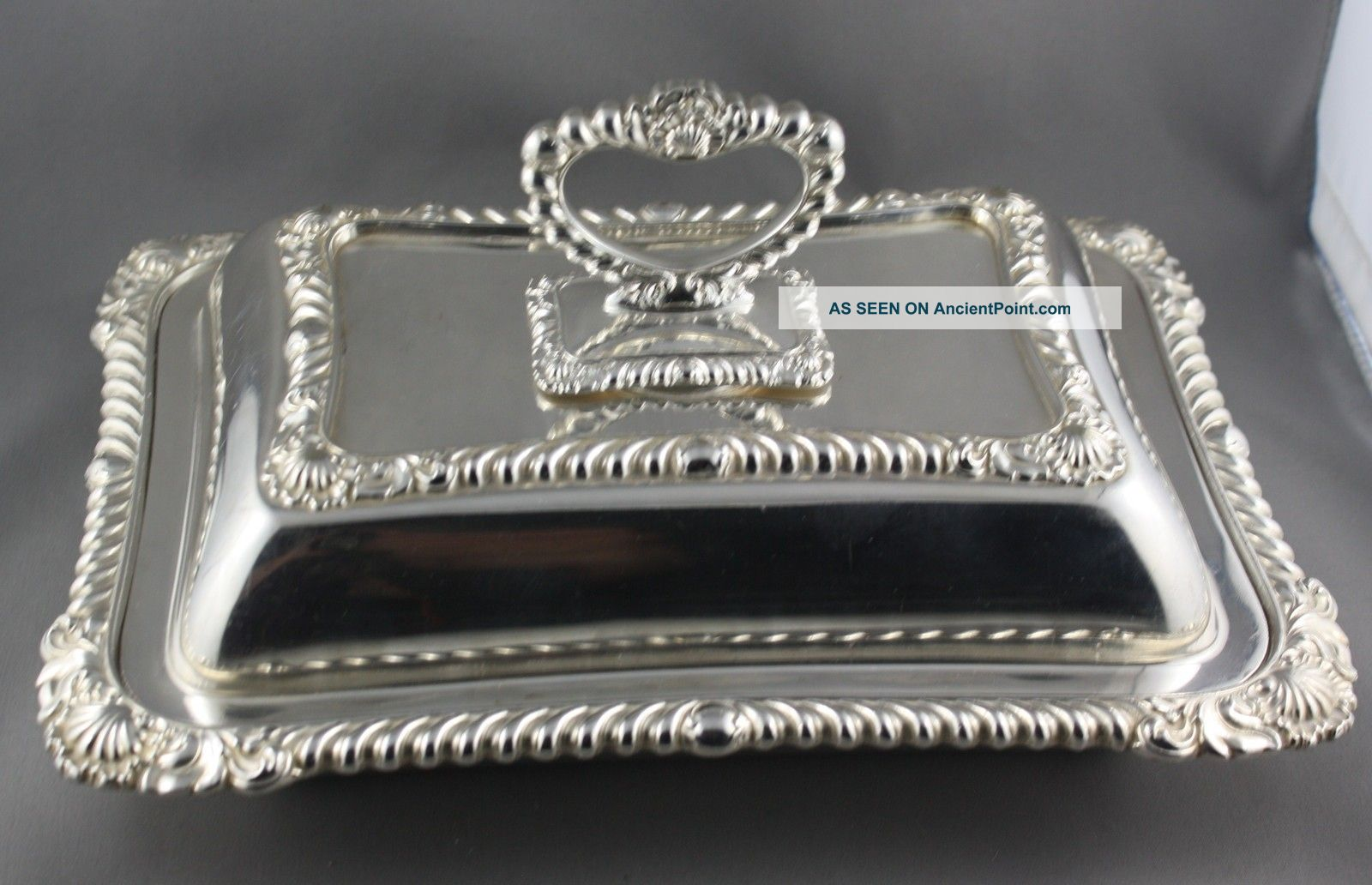 Vintage Silver Plated & Handled Serving Dish Made In England Dishes & Coasters photo