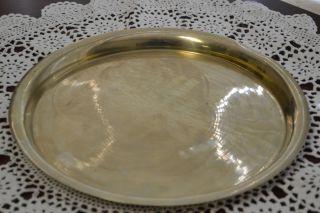 Antique Guaranteed German Silver Alloy Extra Superior Tray Platter Euc photo
