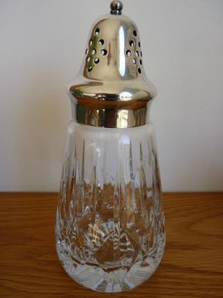 Vintage Silver Plated And Royal Brierley Crystal Cut Glass Sugar Shaker photo