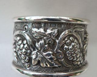 1920s Lovely Embossed Sterling Silver Napkin Ring photo